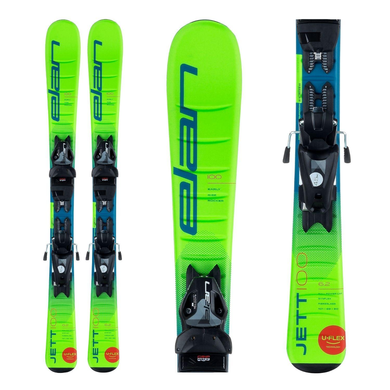 Zjazdové lyže ELAN Jett QS + EL 7.5 Zelená 140 cm