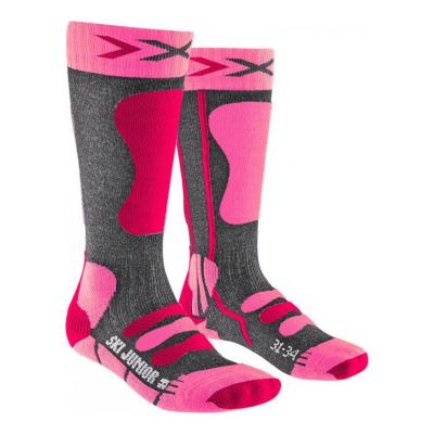 Ponožky X-SOCKS Ski 4.0 Anthracite Pink