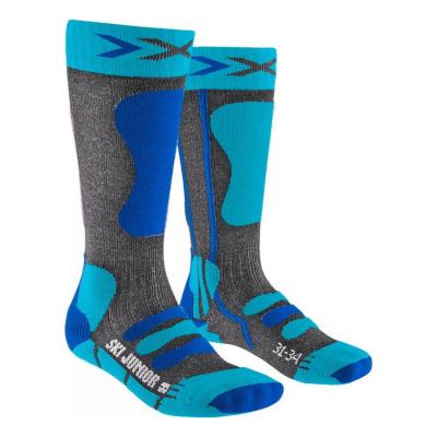 Ponožky X-SOCKS Ski 4.0 Anthracite Electric Blue