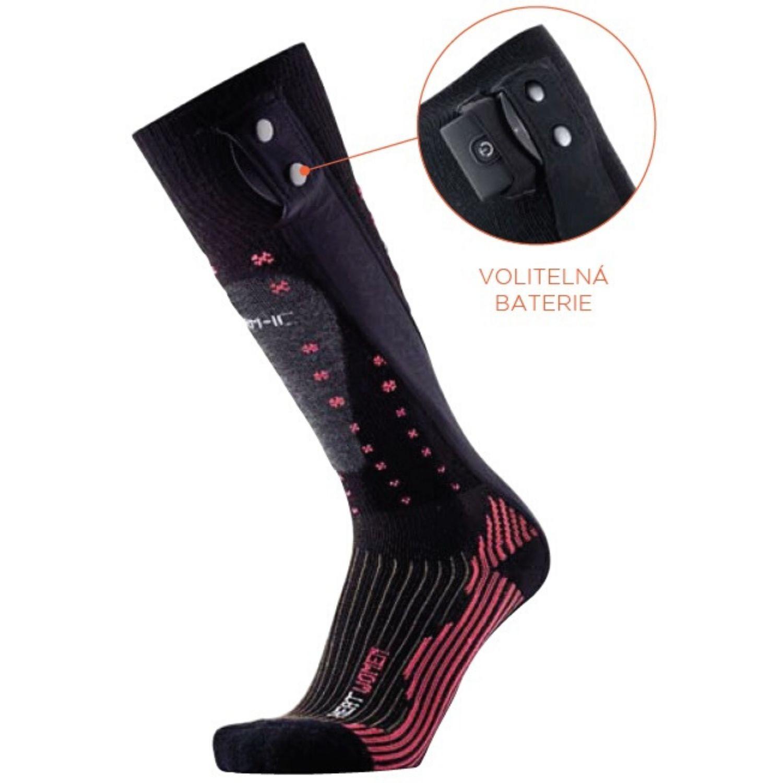 Dámske vyhrievané ponožky THERM-IC PowerSock Heat Ladies V2 Bluetooth 37-38 Batéria 1400 Bluetooth