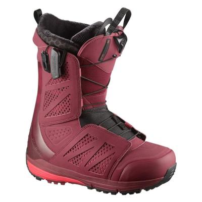 Snowboardová obuv SALOMON Hi-Fi Burgundy