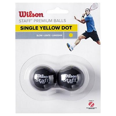 WILSON Staff Squash Yellow Dot