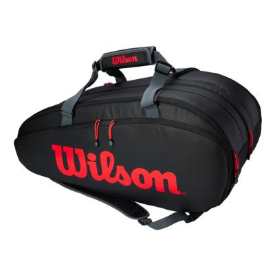 Tenisový vak WILSON Tour 3 Comp Clash Black/Red