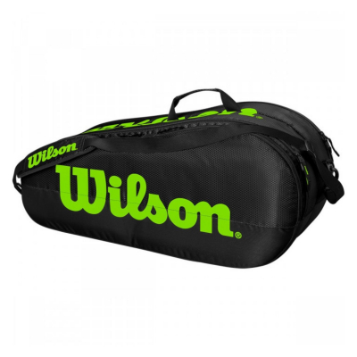 Tenisový vak WILSON Team 2 Comp Black/Green