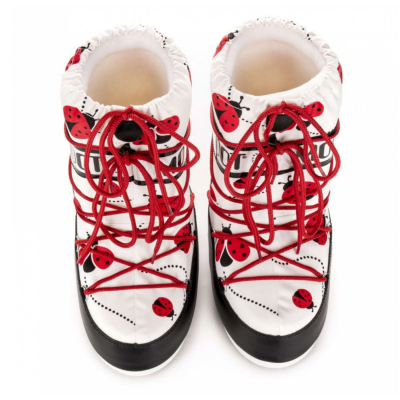 Obuv MOON BOOT JR Girl Red/White