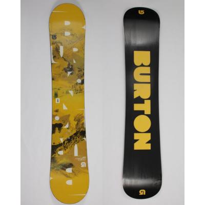 Jazdený bazárový snowboard BURTON Progression Wide Yellow2 s viazaním