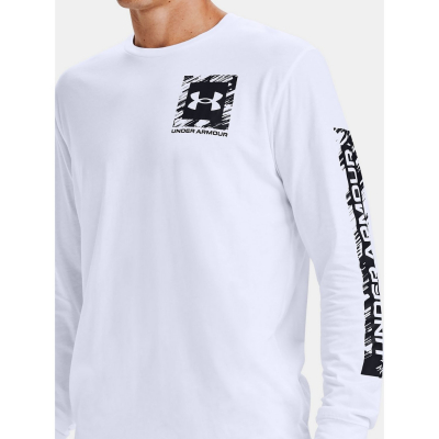 Tričko UNDER ARMOUR Box Logo Sketch LS White