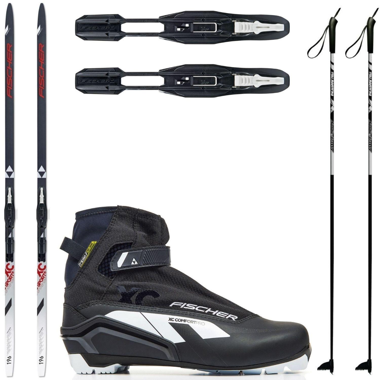 Bežkový set Fischer Sports Crown s viazaním + obuv Comfort + palice
