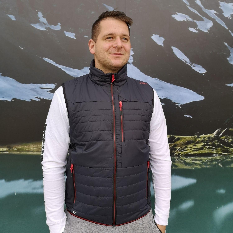 Pánska vesta CAMPAGNOLO Grey Antracitová XL