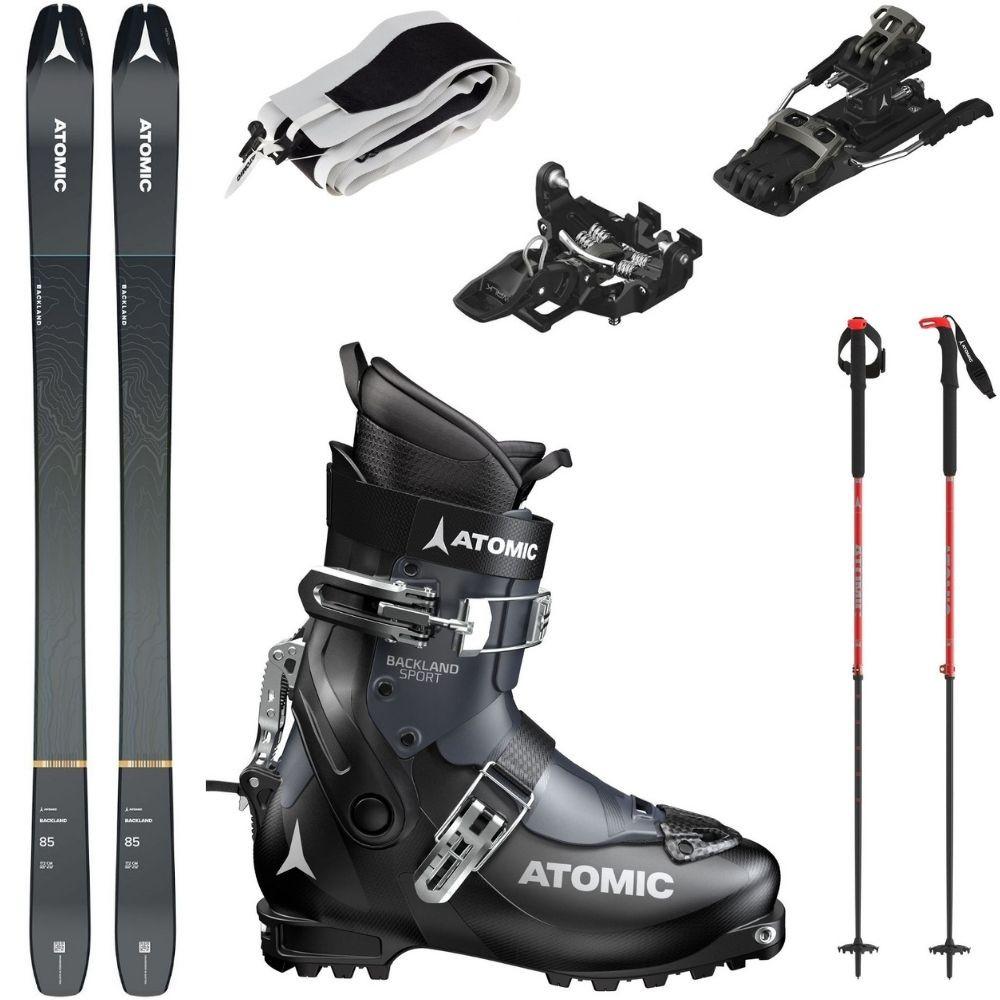 Skialpový set ATOMIC Backland 85 s pásmi + viazanie Atomic + lyžiarky Backland + palice