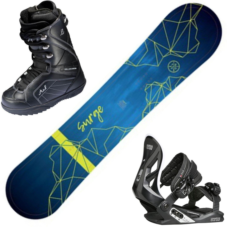 Snowboardový set STUF Surge Rocker + obuv + viazanie 130 cm 25.5