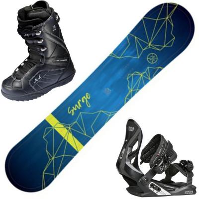 Snowboardový set STUF Surge Rocker + obuv + viazanie