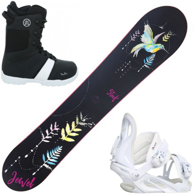 Snowboardový set STUF Jewel Rocker + obuv + viazanie