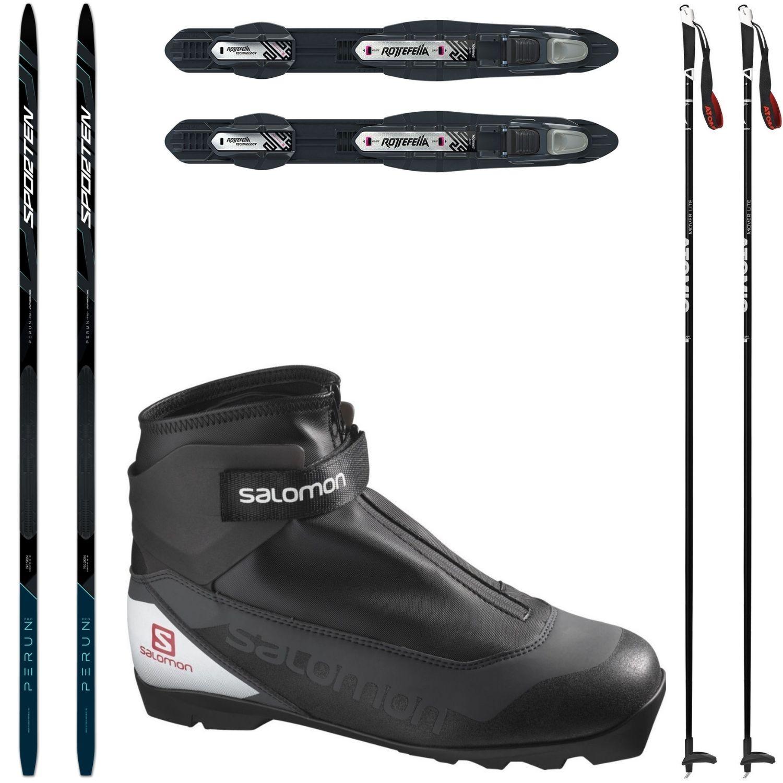 Bežkový set SPORTEN Perun Pro Skin so stúpacím pásom + viazanie + topánky Salomon + palice