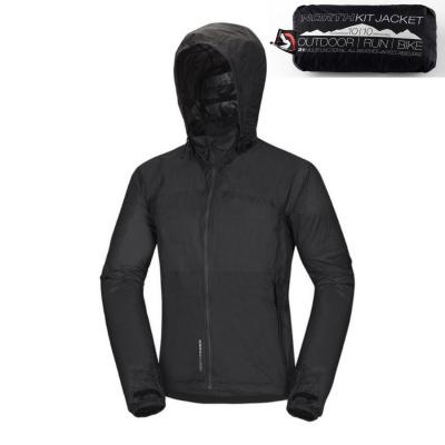 Zbaliteľná bunda NORTHFINDER Northkit Black