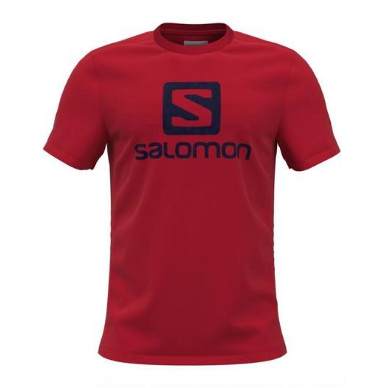 Tričko SALOMON Outlife Logo SS Tee M Fiery Red Červená L
