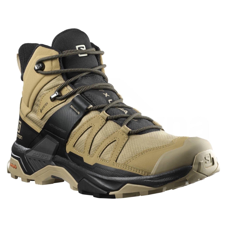 Turistické topánky SALOMON X Ultra 4 MID GTX Black/Safari Hnedá 44