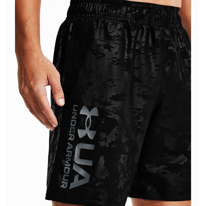 Šortky UNDER ARMOUR Woven Emboss Shorts Black Čierna XL