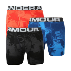 Boxerky UNDER ARMOUR CC 6in Novelty 3 Pack Black/Red