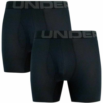 Boxerky UNDER ARMOUR Tech 6in 2 Pack Black