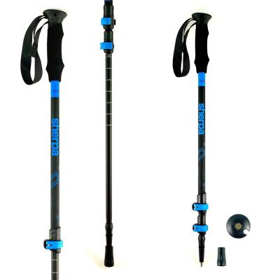 Trekingové palice HIGH COLORADO Sherpa Black/Blue 105 - 135 cm