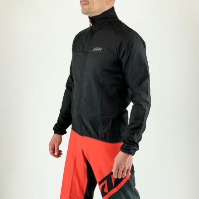 Ultraľahká zbaliteľná bunda KTM Factory Line Windbreaker Black
