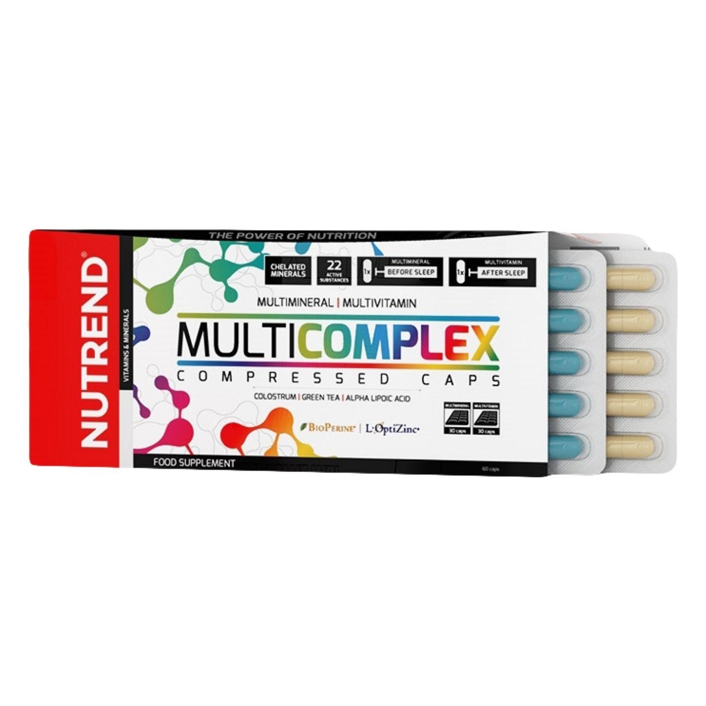 Vitamínové a minerálne kapsule NUTREND Multicomplex Compressed Caps 60 tabliet