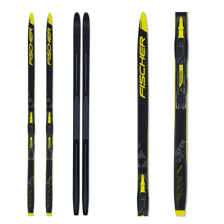 Bežkový set FISCHER Sprint Skin Jr. so stúpacím pásom a viazaním NNN Čierno-žltá 170 cm