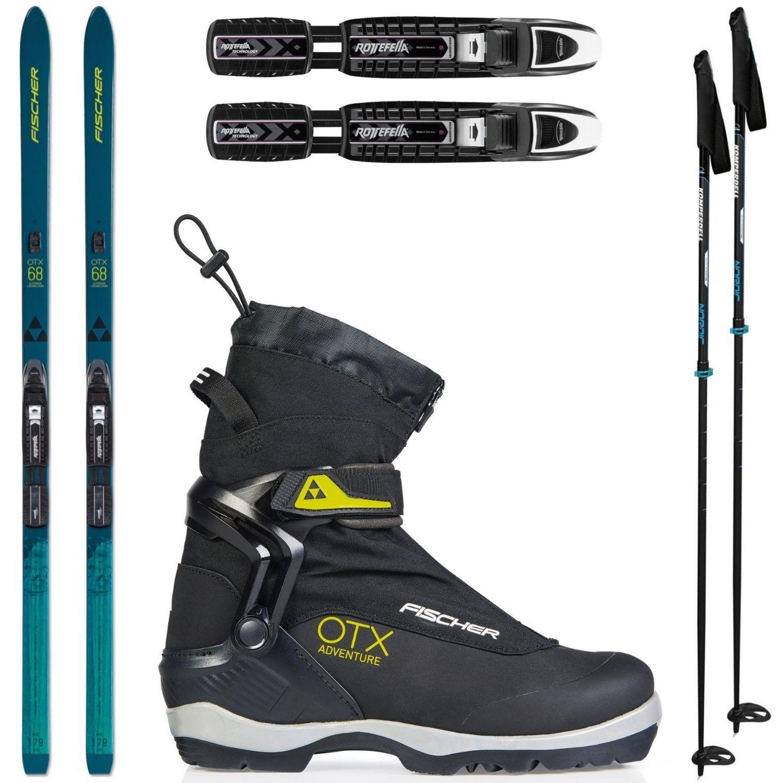 Backcountry set FISCHER Outback 68 Crown/Skin Xtralite s viazaním + obuv Adventure + palice