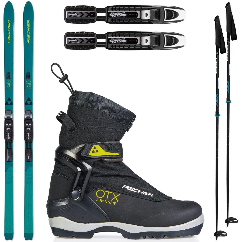Backcountry set FISCHER Traverse 78 Crown/Skin Xtralite s viazaním + obuv Adventure + palice