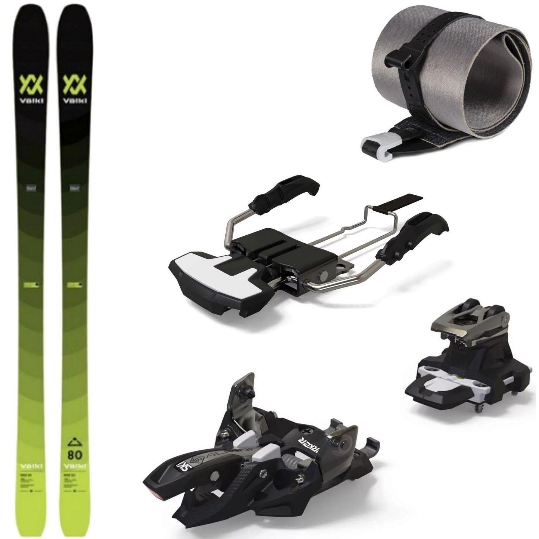Skialpinistický set Volkl Rise 80 s pásmi a viazaním Marker Alpinist 8 155 cm