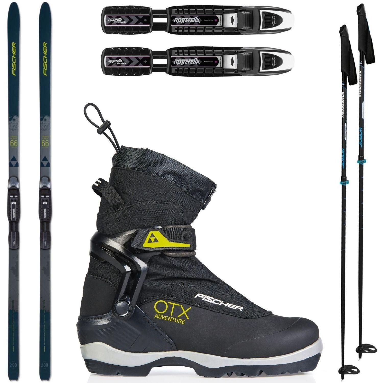 Backcountry set FISCHER Transnordic 66 Crown Xtralite + obuv Adventure + palice