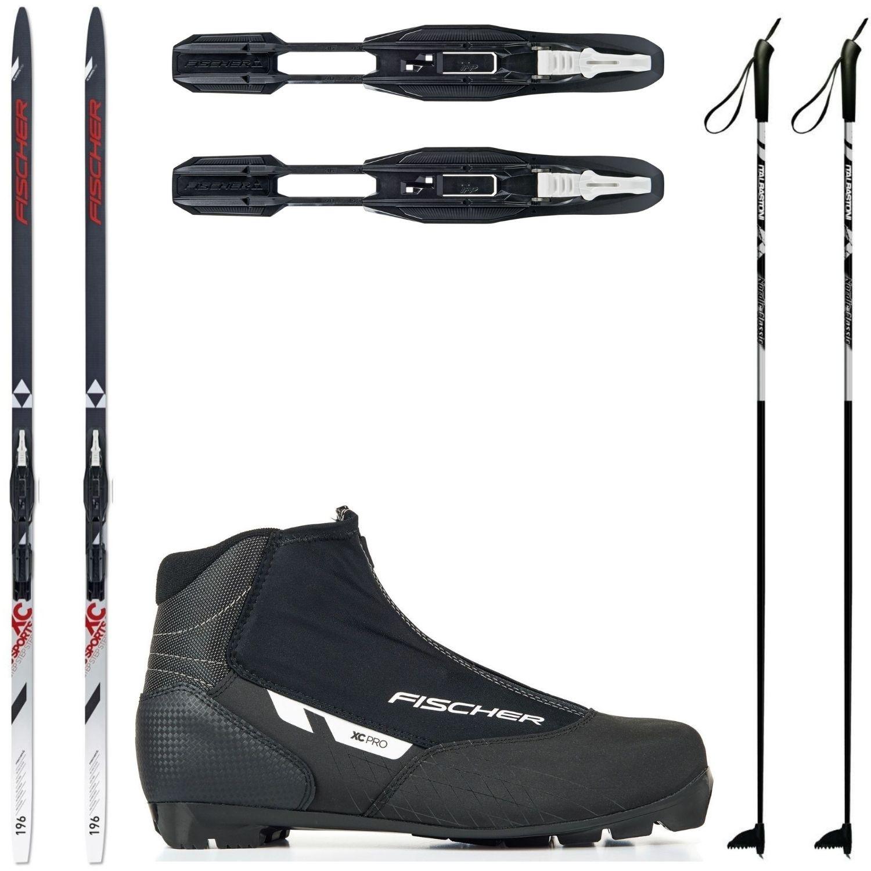 Bežkový set Fischer Sports Crown s viazaním + obuv XC + palice