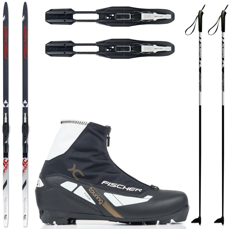 Dámsky bežkový set Fischer Sports Crown s viazaním + obuv Style + palice