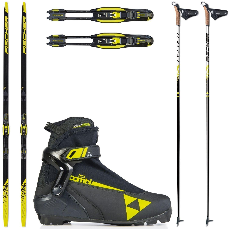 Bežkový set FISCHER Twin Skin Pro Stiff so stúpacím pásom + viazanie + obuv RC3 + palice