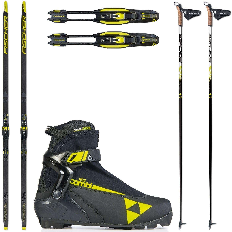 Bežkový set FISCHER Twin Skin Race Stiff so stúpacím pásom + viazanie + obuv + palice