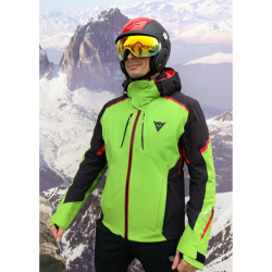 DAINESE Black Grual D-DRY Green/Red/Black
