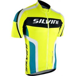 Pánsky cyklistický dres SILVINI Lemme Neon Ocean